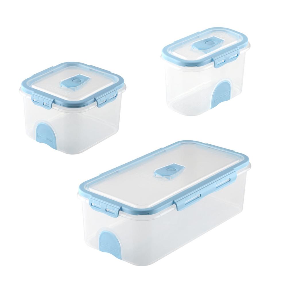Domestic Vacuum Food Storage Container Set Blue