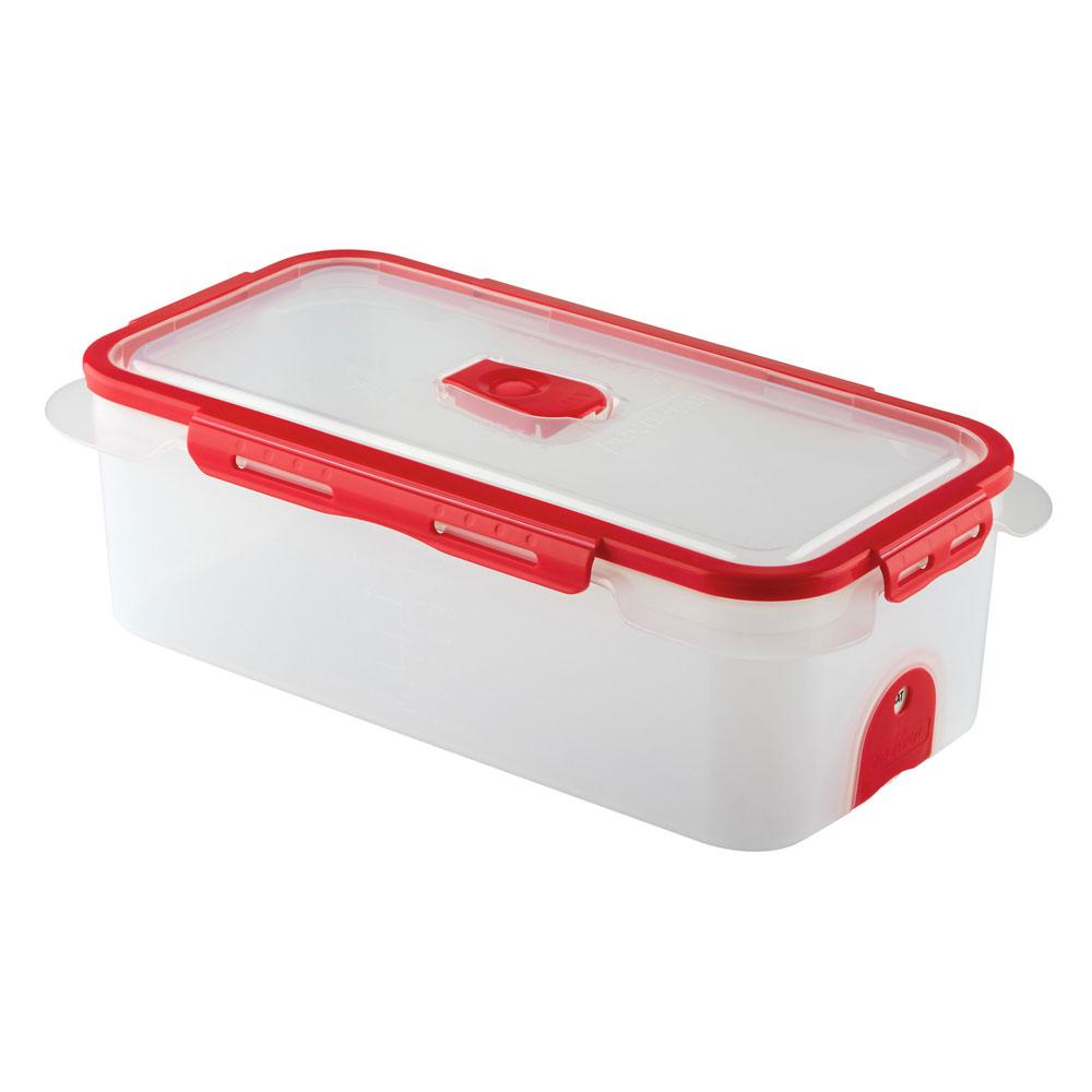 Professional Vacuum Food Storage Container Dd 3600ml_Red