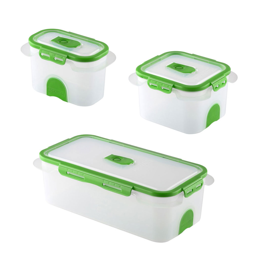 Storage Container Set 3 piece PacnVac