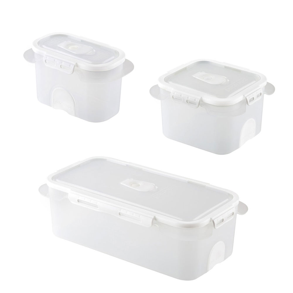 Exceptional Professional Food Storage Containers Part - 12: ... Professional-vacuum-food-storage-container-set-White