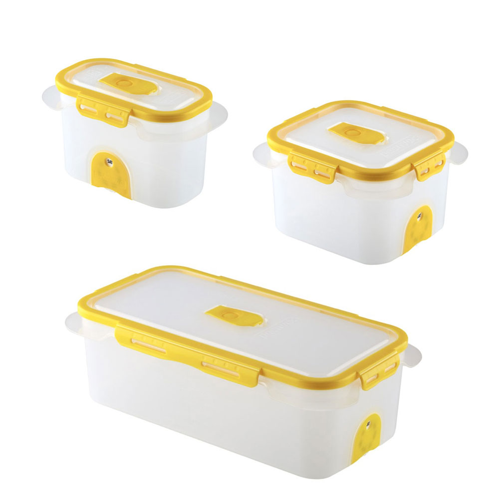 Superior Professional Food Storage Containers Part - 4: Professional Vacuum Food Storage Container Set Dd Yellow